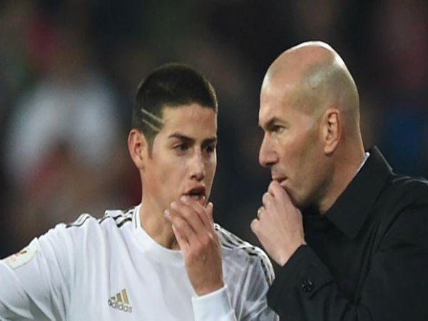 Zidane tiếp tục gạch tên James khỏi danh sách