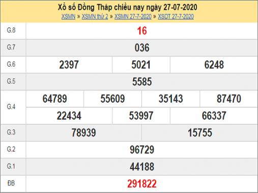 Soi cầu xổ số Đồng Tháp ngày 3/8/2020 mới nhất hôm nay